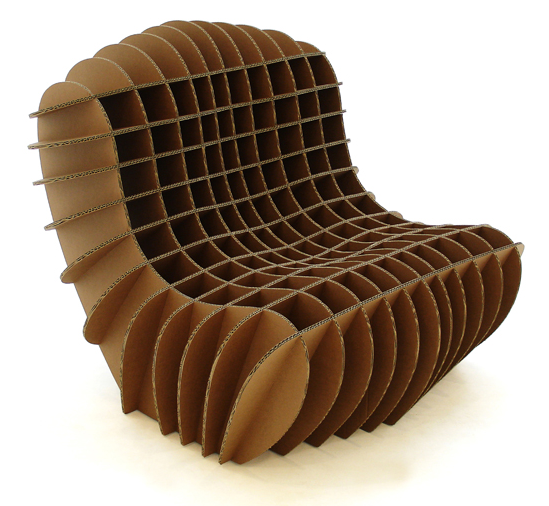 mc 205 cardboard chair. cardboard furniture! people might be looking to sit down, they can view our piece and take a rest. is accessible us. mc 205 chair