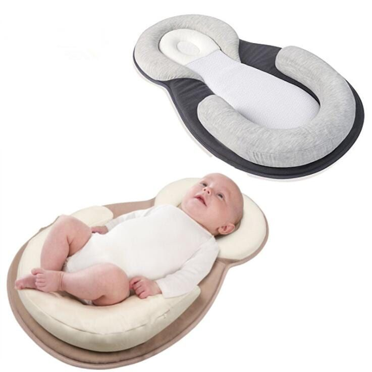 Baby Sleeping Pad with Nursing Pillows,Portable Baby Crib Nursery Travel Folding Baby Bed Bag Baby Sleep Aid Infant Toddler Cradle Multifunction Bag for 0-12 MonthBaby Care