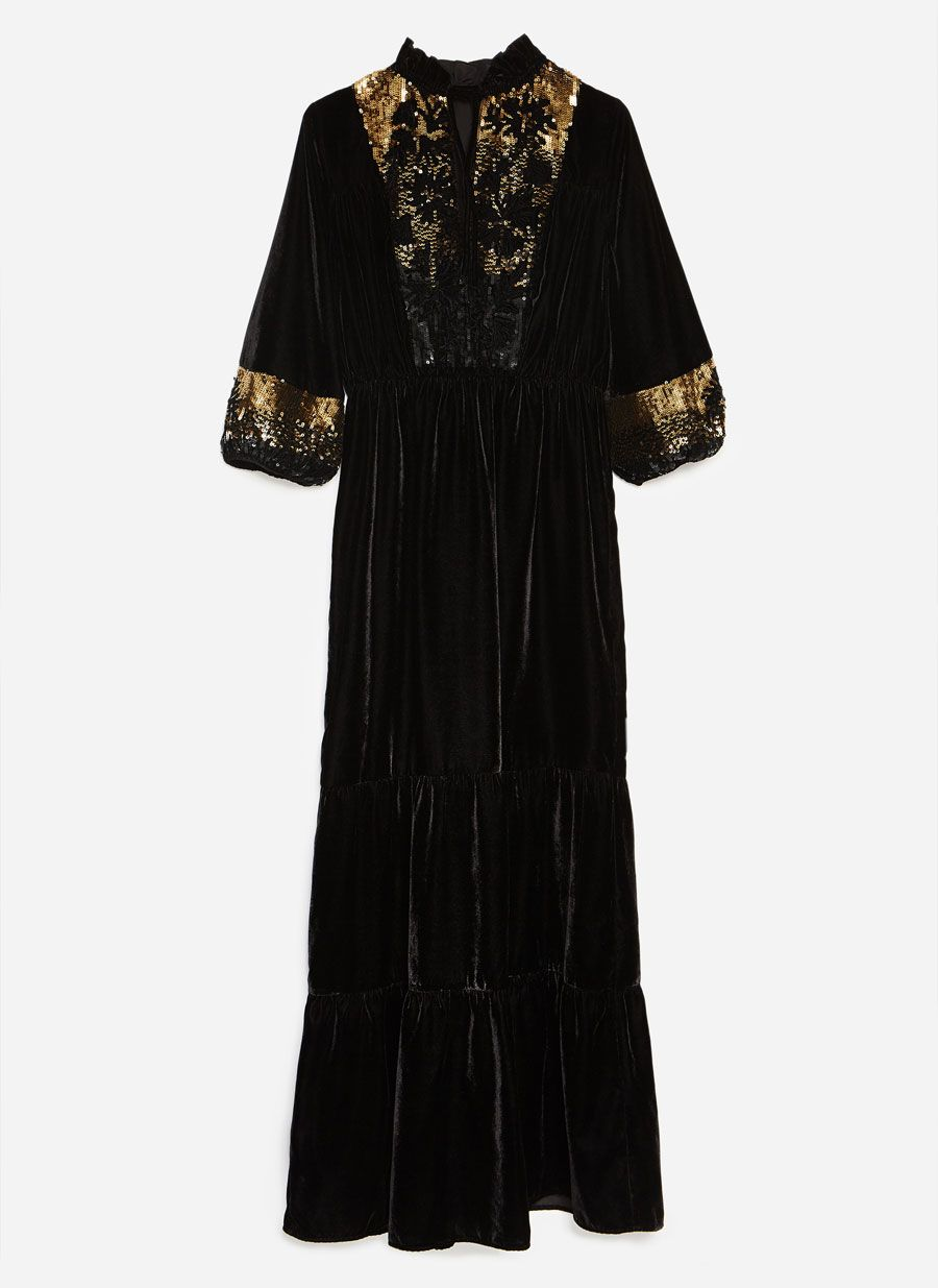 1b178843 Velvet dress   Wardrobe - Nov 18   Dresses, Velvet, Dresses with sleeves