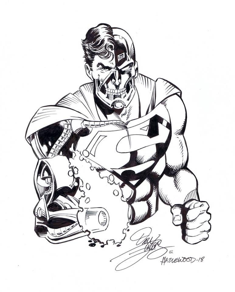 Cyborg Superman Pencils By Dan Jurgens Inks By Doug