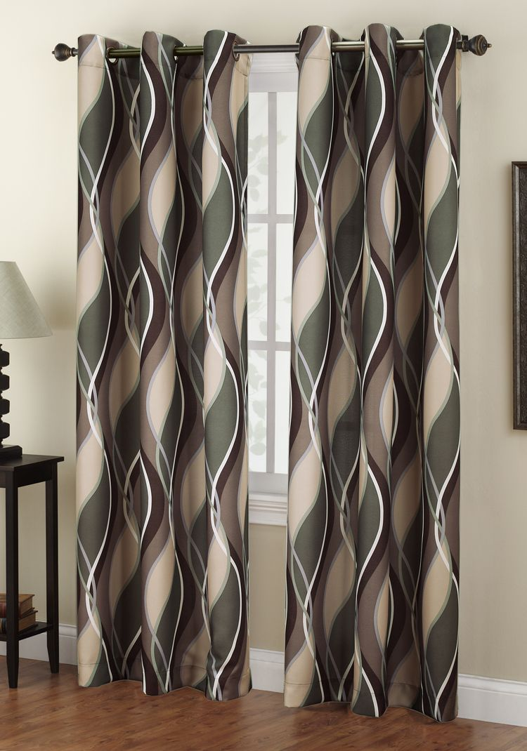The Intersect Grommet Curtains Has A Horizontal Multi