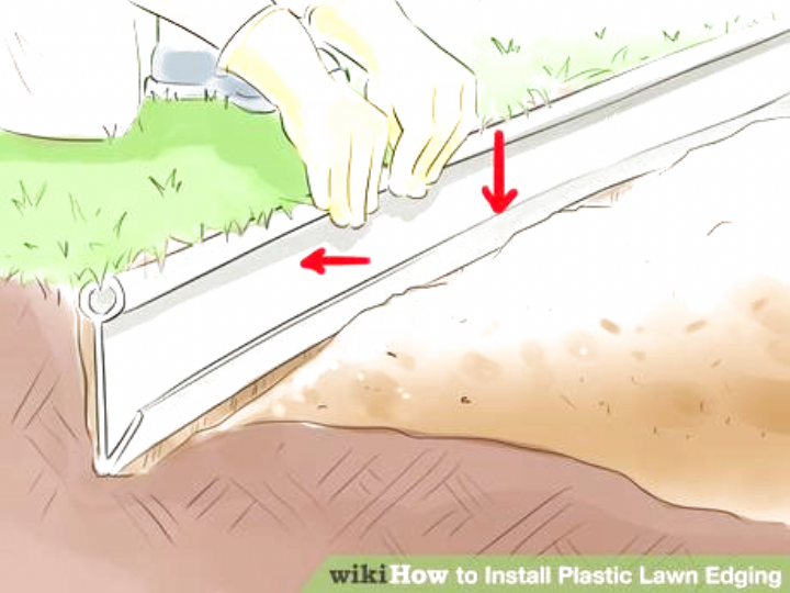 How To Install Plastic Lawn Edging 9 Steps With Pictures Landscape In 2020 Lawn Edging Plastic Lawn Edging Landscape