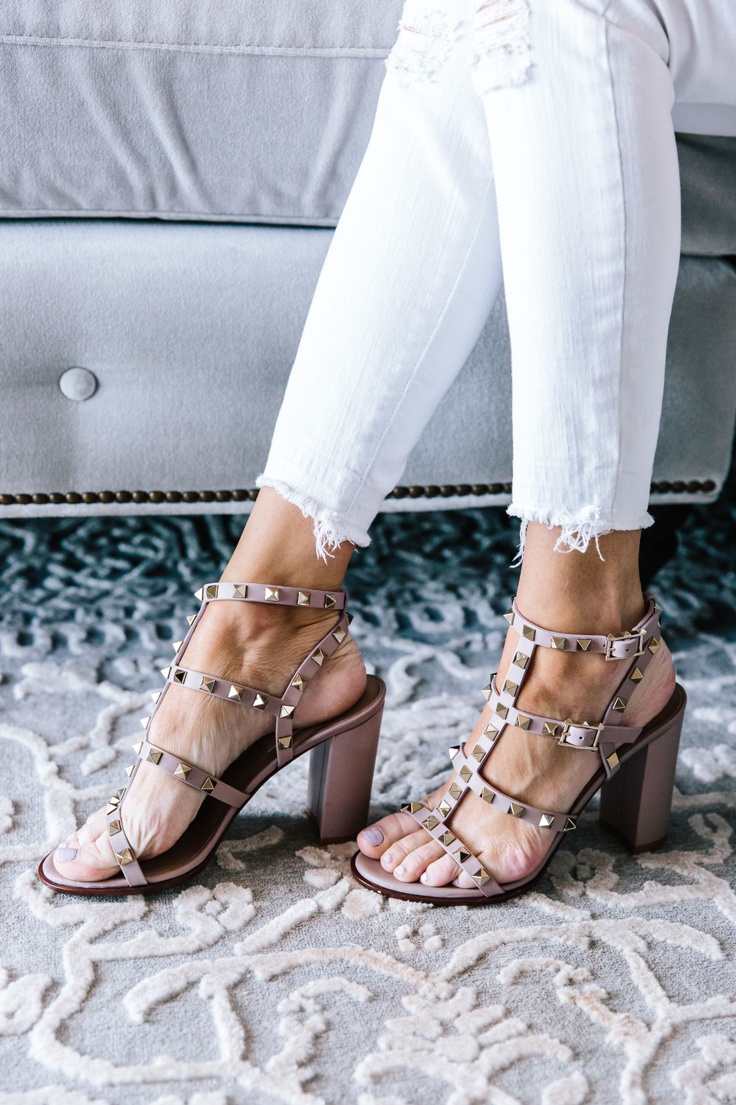 Valentino sandals outfit