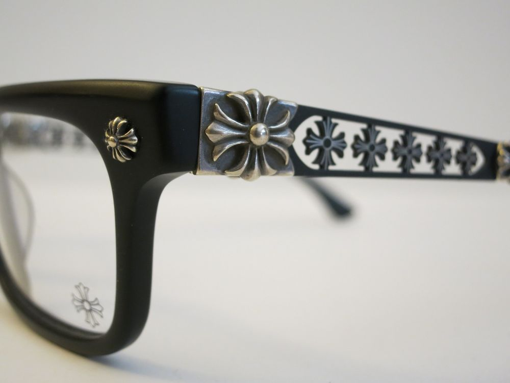 6566b612699 Chrome Hearts INSTABONE Matte Black Glasses Eyewear Eyeglass Frame Sterling  Slvr  ChromeHearts