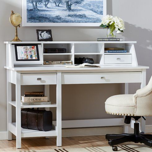 Three Posts™ Broadview Computer Desk with Open Storage