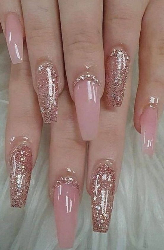 Get inspired by our clear crystal pink nails for any season #nailart