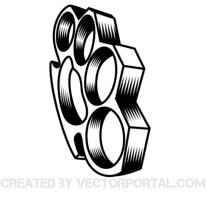 Brass Knuckles Vector Graphics Brass Knuckles Brass Knuckle Tattoo Tattoo Art Drawings