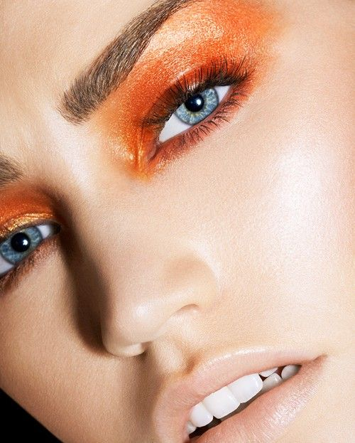 Orange as a gold fish #colorful #makeup #ideas #beauty #eyeshadow