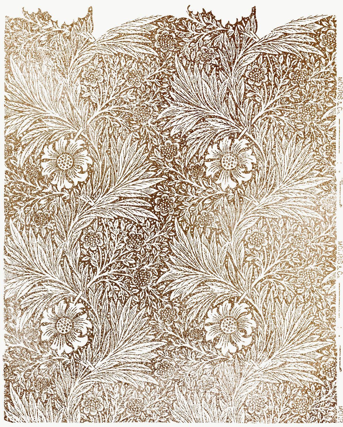 Download Premium Png Of Marigold Wallpaper Vintage Design Remix From In 2020 Wallpapers Vintage Art Wallpaper Morris Wallpapers