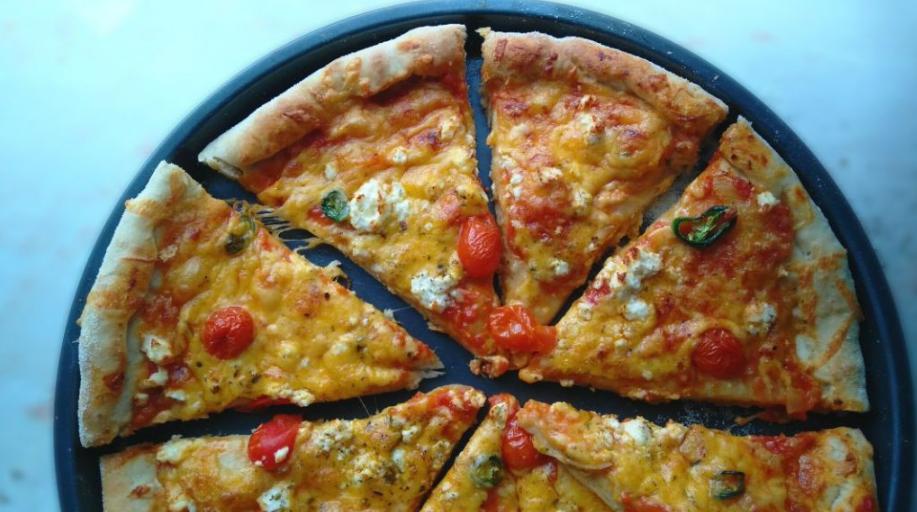 طريقة تحضير عجينة البيتزا بعشر دقائق No Rise Pizza Dough Pizza Dough Side Dishes Easy