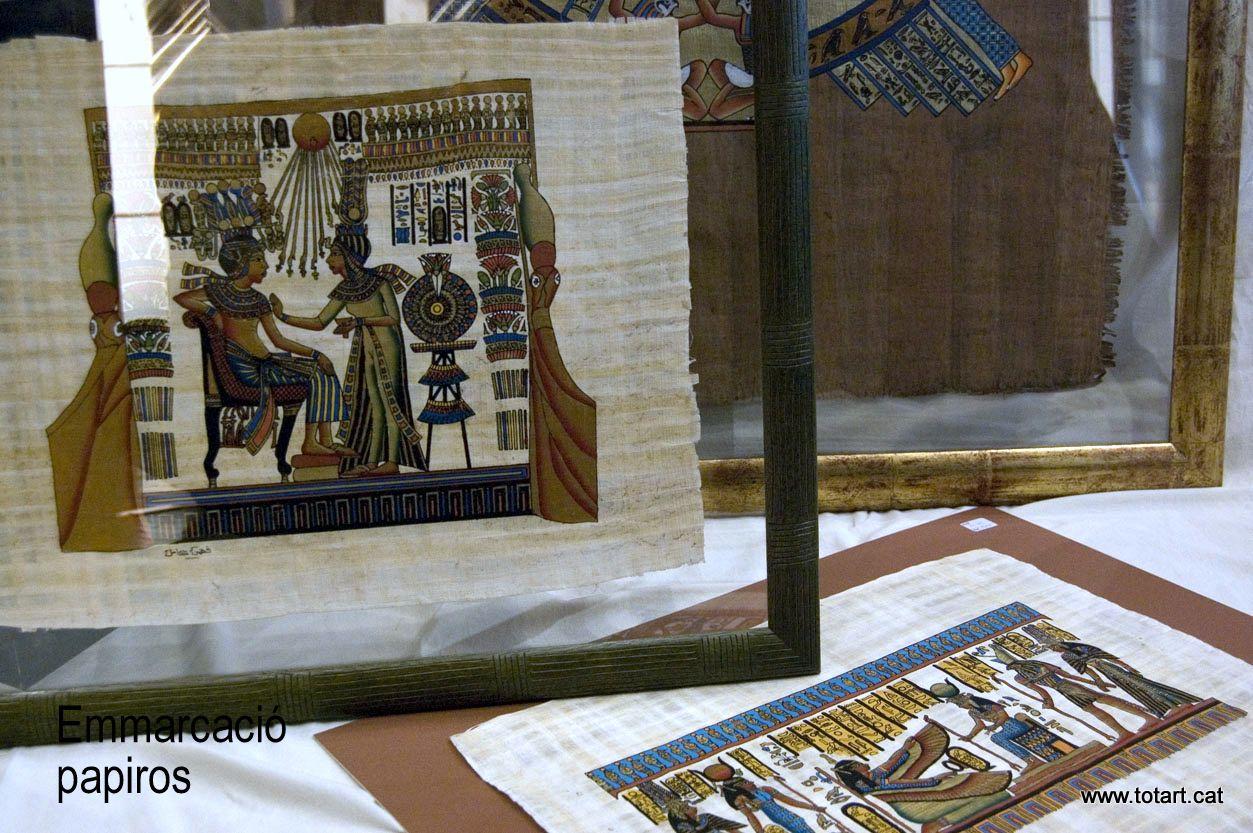 Enmarcar un Papiro de Egipto www.totart.cat | cómo enmarcamos ...