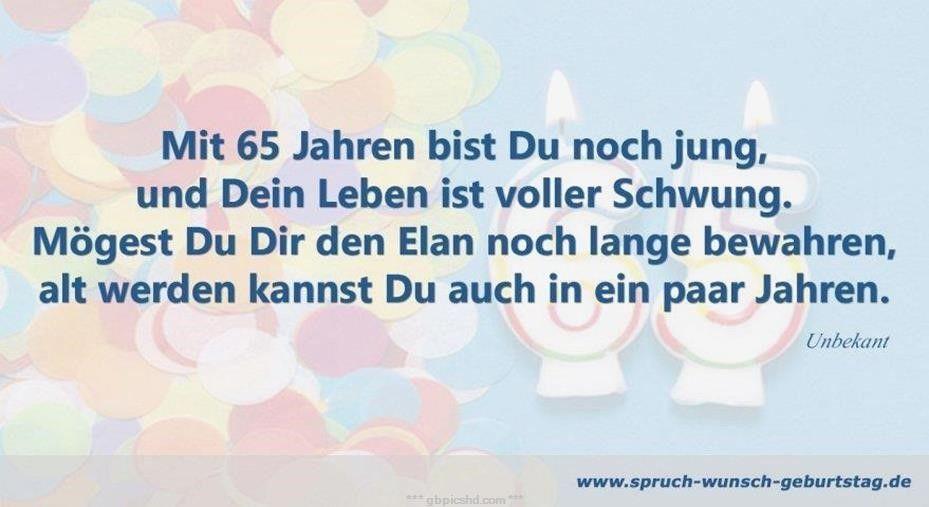 65 Geburtstag Bilder Spruche Zum Geburtstag Geburtstag Bilder