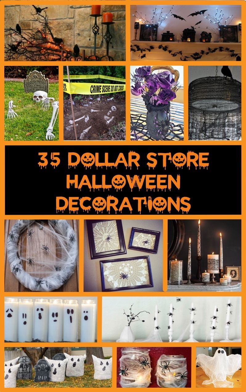 Deck the halls how to decorate on a budget family dollar - 35 Dollar Store Halloween Decoration Ideas More
