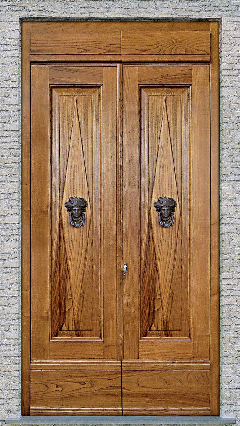 Cmb infissi modello portone patronale in legno massello di for Infissi di legno