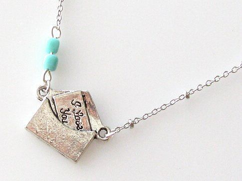 I Love You Necklace Message Necklace Love Words by kriyadesign, $16.95