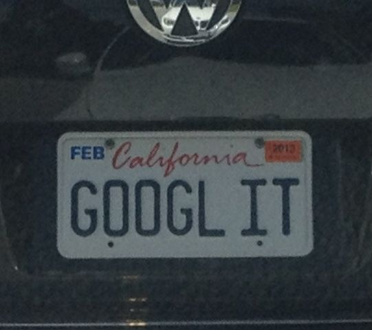 This Is Classic!!! Google It License Plate
