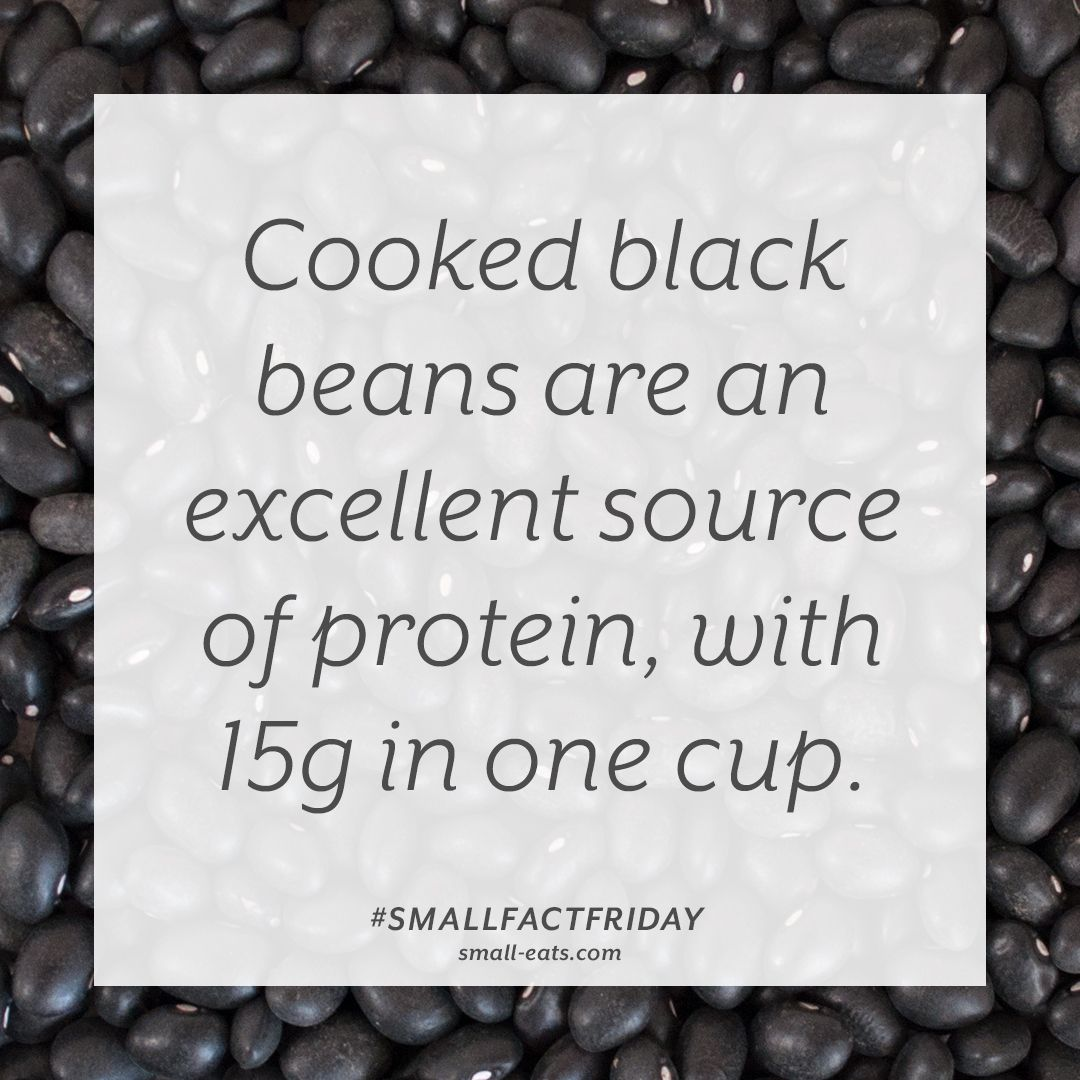 Small Fact Friday Black Beans And Protein Cooking Black Beans Black Beans Nutrition Data