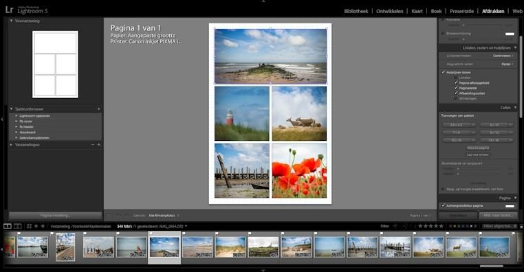 how to make a collage card in lightroom with 1 free template.