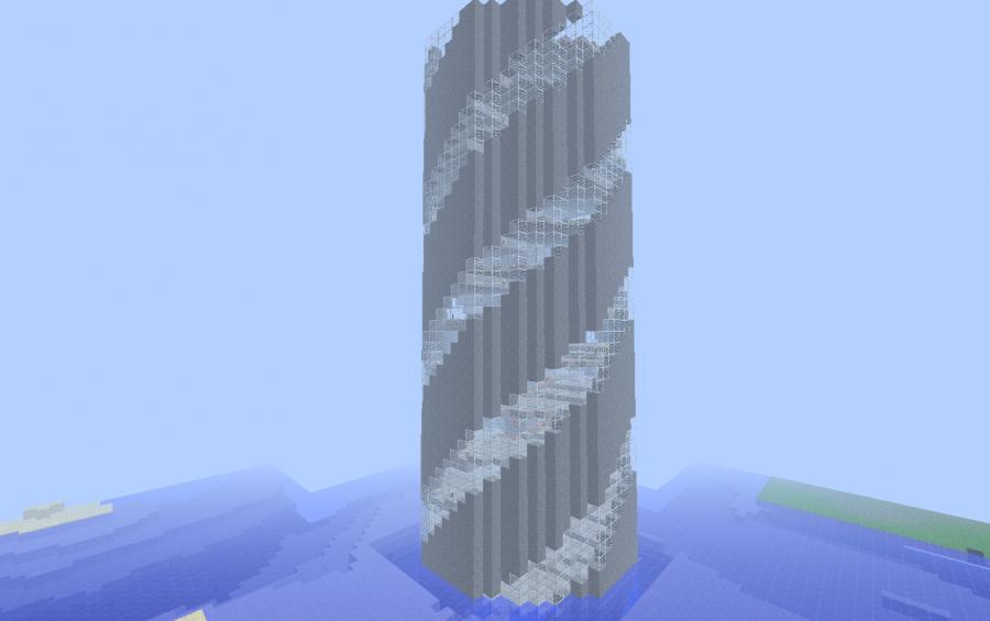 Minecraft Spiral Tower Staircase : Spiral tower creation minecraft pinterest