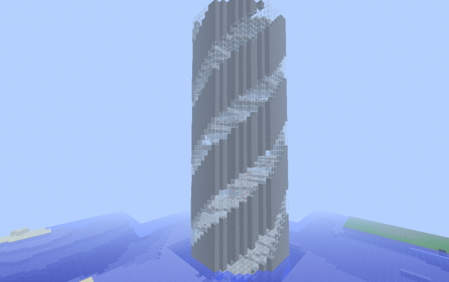 Spiral Staircase Minecraft Google Search Minecraft Staircase Minecraft Architecture Minecraft Designs