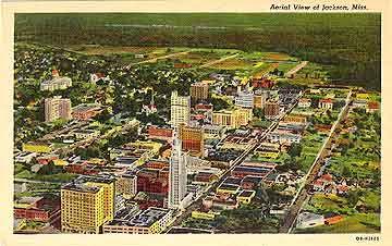 Bird S Eye View Of Jackson Mississippi Circa 1930 45 Jackson