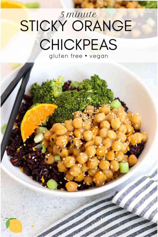Vegan Orange Chickpea Recipe Chickpea Recipes Vegan Dinner Recipes Vegan Bowl Recipes