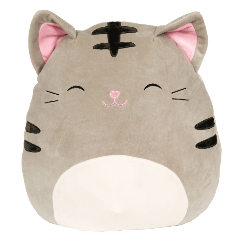 Giant Shark Plush, You Won T Be Able To Contain Your Excitement When Tally Walks Into The Room She Continues To Lift The O Grey Tabby Cats Animal Pillows Grey Cat Stuffed Animal
