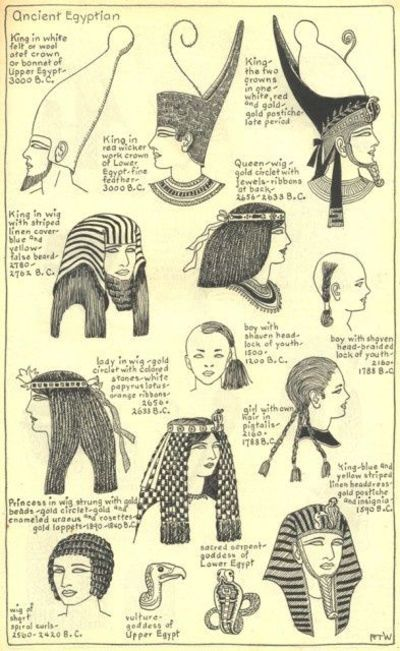 Egyptian Crowns and Royal Hairstyles