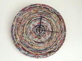 Recycling Wanduhr aus bunten Zeitschriften | Clock | Pinterest ...