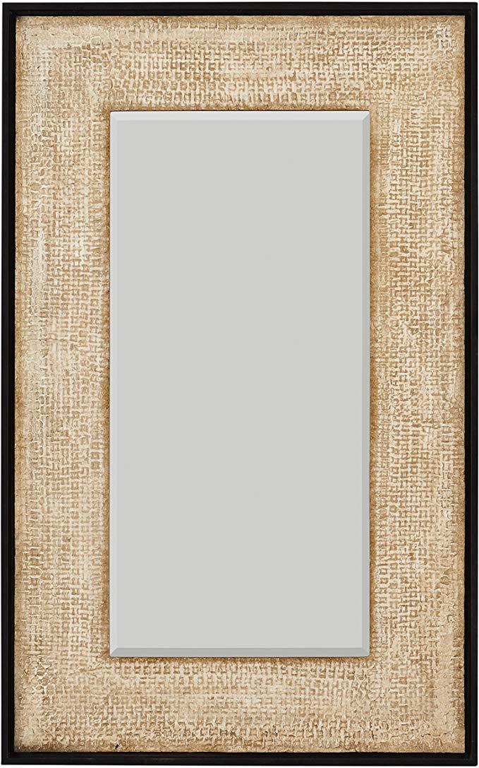 Amazon Com Stone Beam Rustic Woven Frame Mirror 48 H Natural Home Kitchen Mirror Frames Stone Mirror Mirror