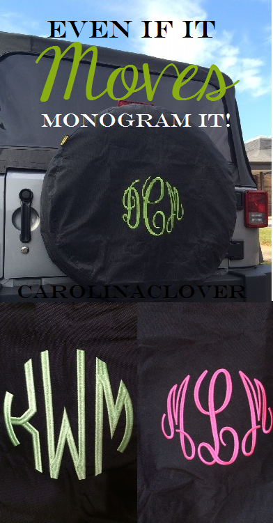 Monogrammed Tire Cover Tire Cover Spare Tire Covers Jeep Spare