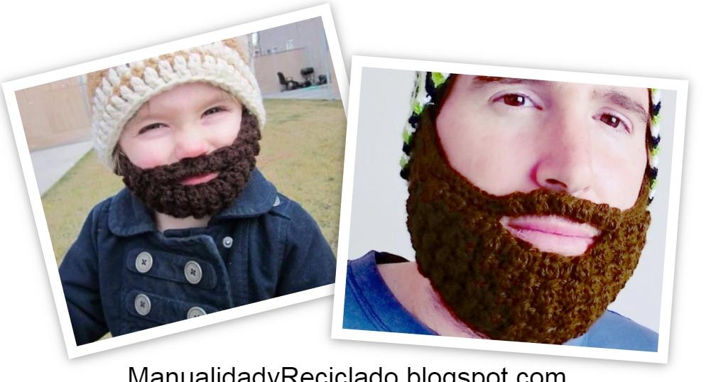Patrones Crochet, Manualidades y Reciclado: COMO HACER BARBA A ...