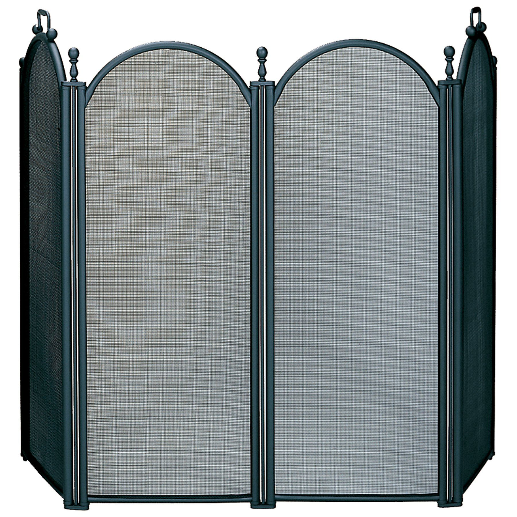 uniflame 4 panel deluxe plated woven mesh fireplace screen s 3650