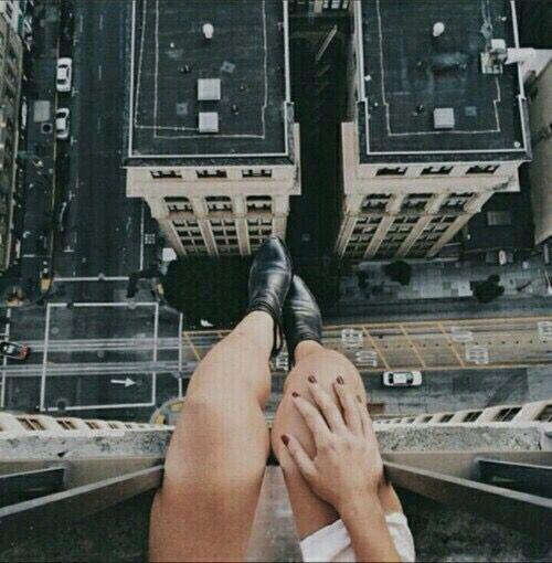 girl sitting on top