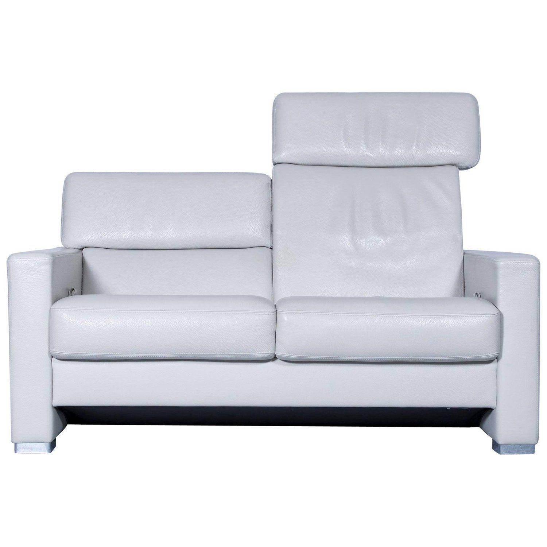 Br Hl & Sippold Designer Leather Sofa Cr Me Beige