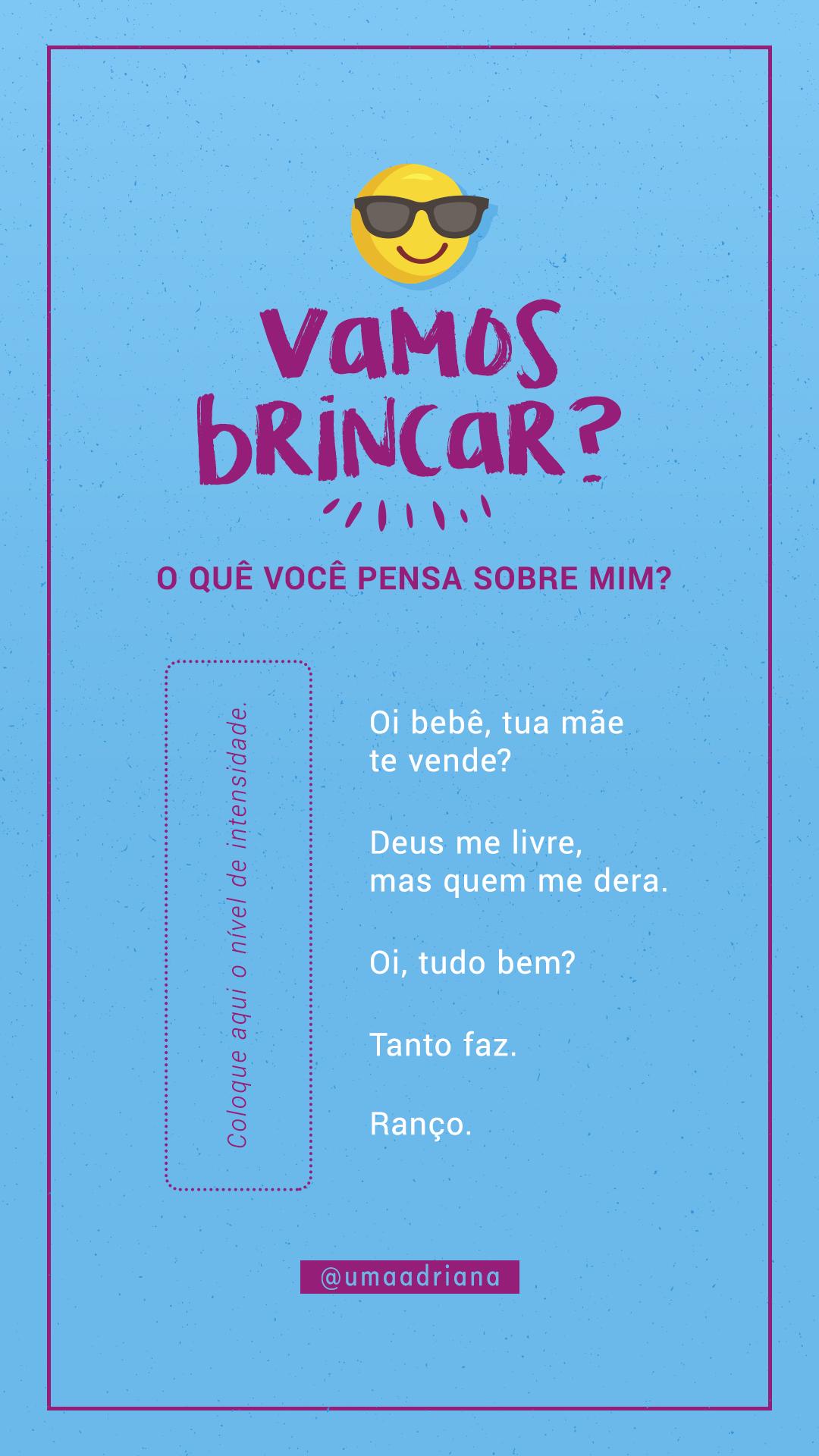 Template Intensidade Instagram By Umaadriana Verdade Ou Desafio Perguntas Brincadeiras Para Facebook Perguntas Para Brincadeiras