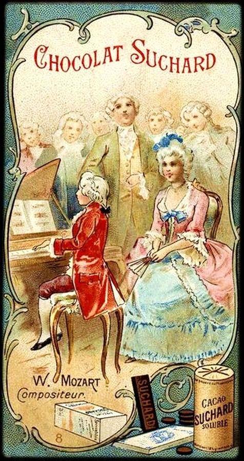 Открытка, открытки моцарт