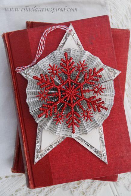 Handmade Star Christmas Ornaments Christmas ornament crafts - christmas decorations diy