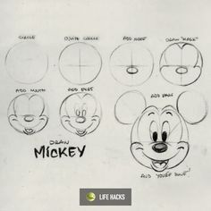 How To Draw Mickey Mouse Micnie V Roce 2019 Pinterest Drawings
