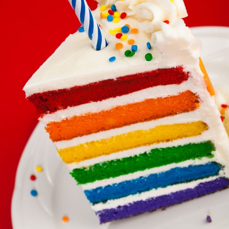 This Rainbow Cake Recipe Makes 6 Layer Multi Colored Huge Impressive Is A Lot Of Fun To Present And Eat From