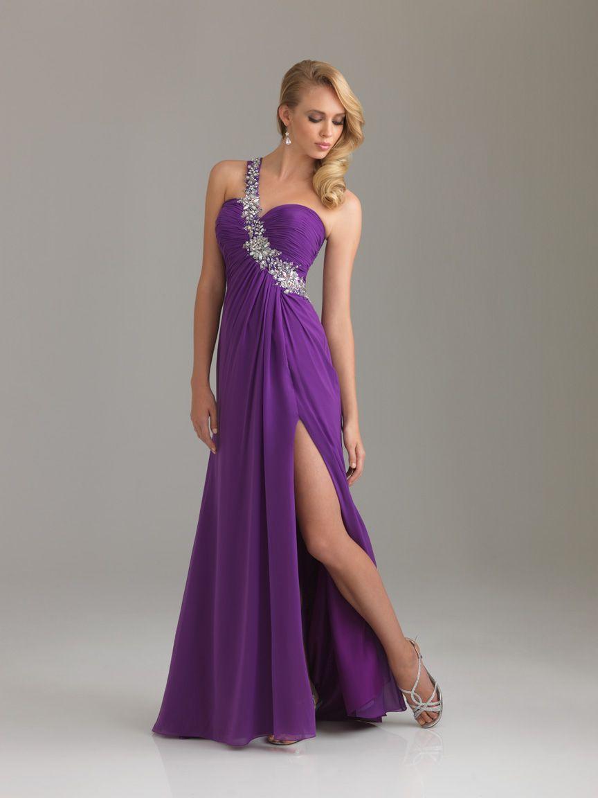 1000  images about Purple Evening Dresses on Pinterest  Chiffon ...