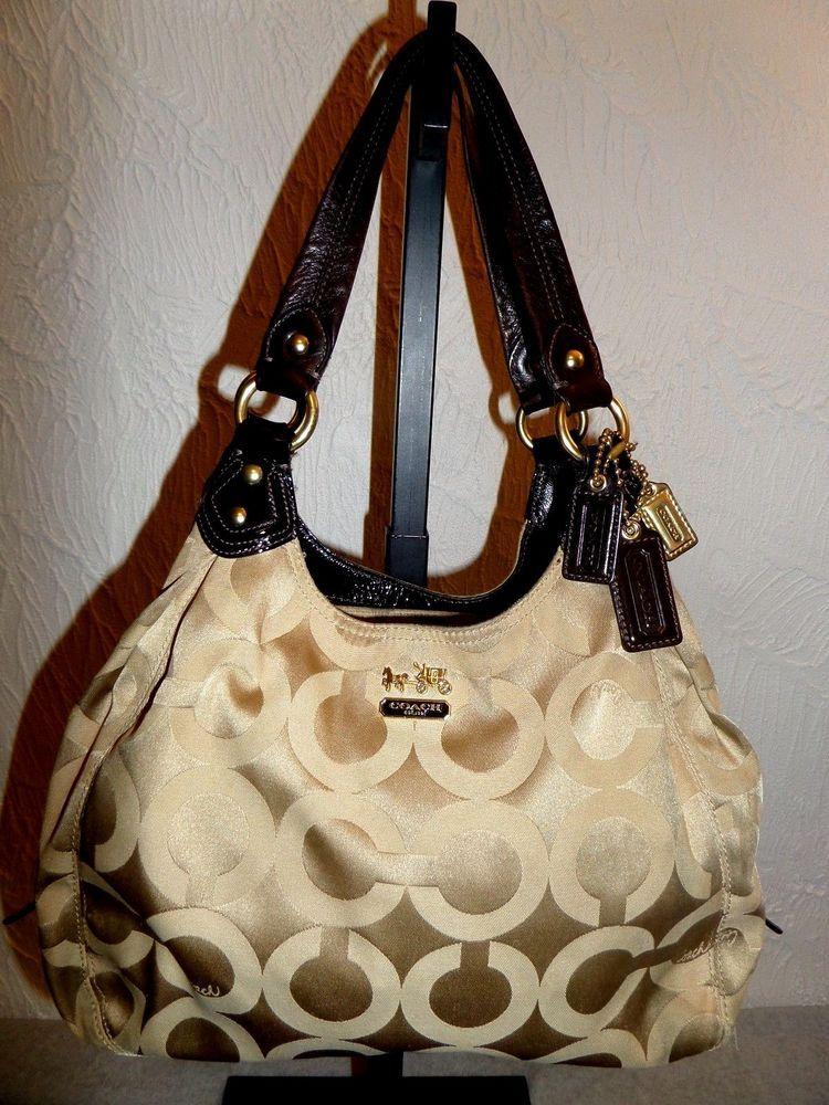 Ping Coach Beige Gold Madison Op Art Maggie Shoulder Bag L0973 14305 Shoulderbag 66f24 8ef85