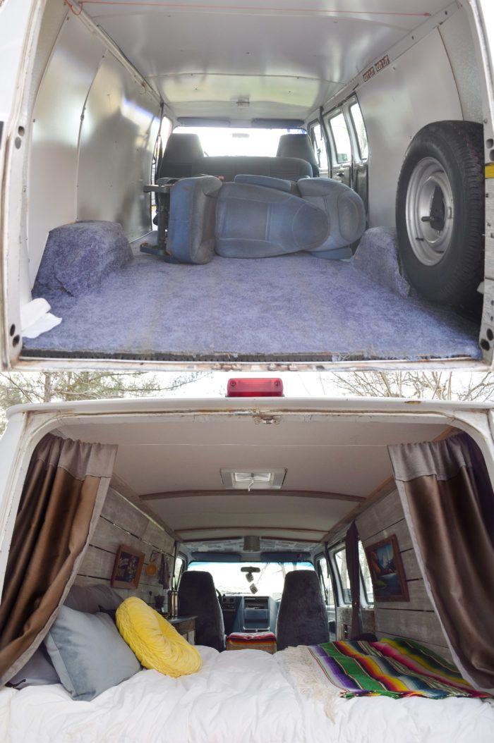 Camper Van Before And After Remodel Small Camper Vans Camper