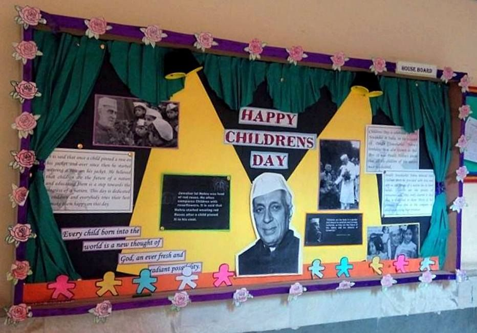 Teachers Day Theme Board Theme Life Story Of Jawaharlal Nehru Happy Children S Day Child Day Teachers Day