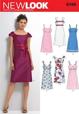 df66ccd88a5 Womens Dress Pattern 6749 New Look Patterns