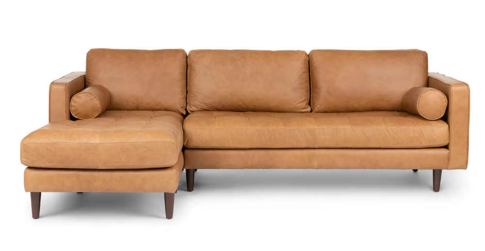 Modern Mid Century Sectionals Article Mid Century Modern Sectional Sofa Leather Sectional Tan Leather Sectional