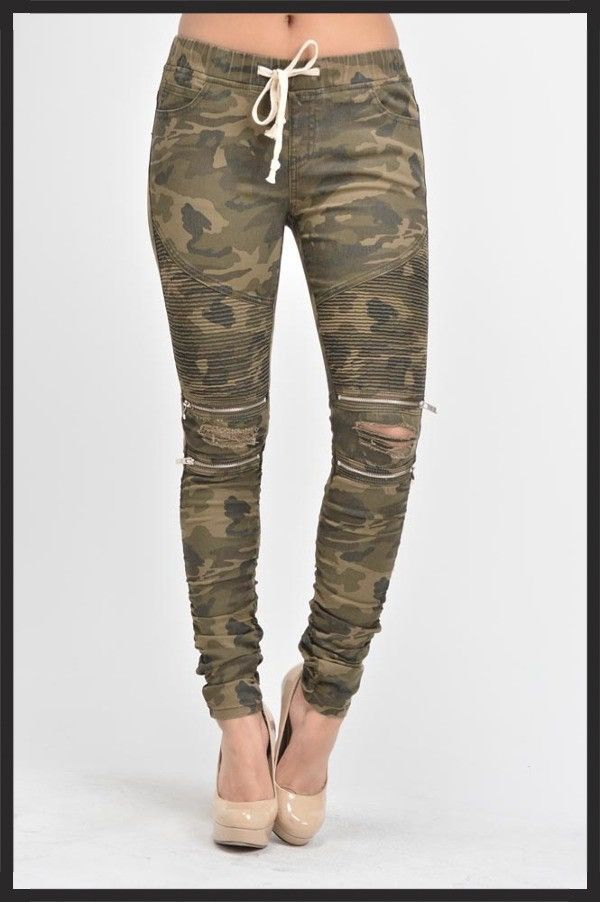 c3e19a920af Hiding Out Jeggings In Camo in 2019