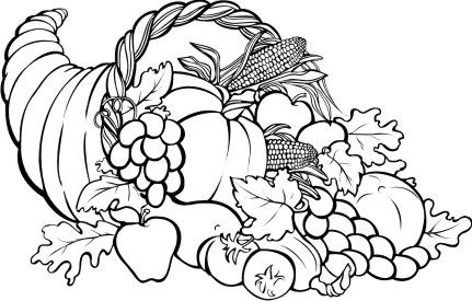 Coloring Page Thanksgiving Basket Cornucopia Img 22904 Thanksgiving Coloring Pages Fall Coloring Pages Free Thanksgiving Coloring Pages