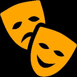 Free Orange Theatre Masks Icon Download Orange Theatre Masks Icon Theatre Masks Theatre Symbol Mask