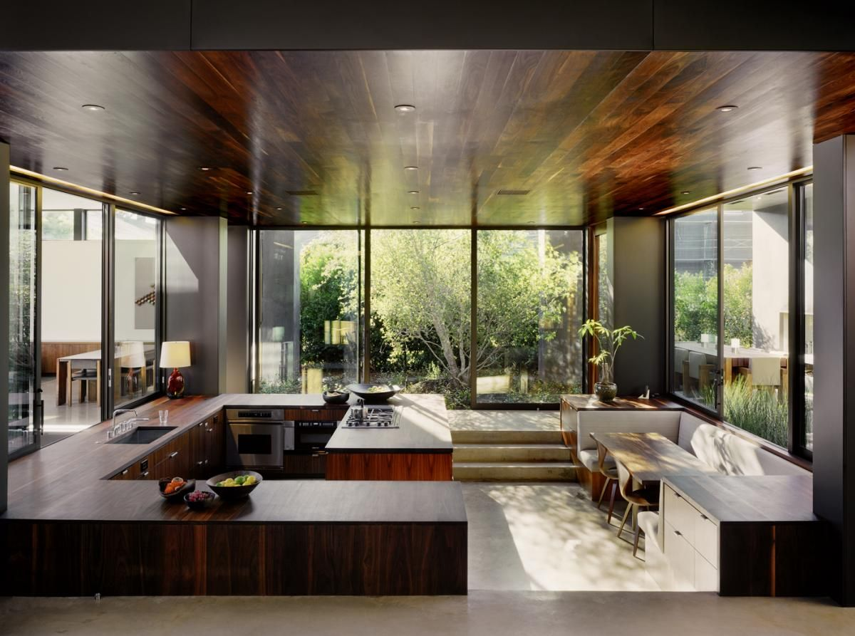 #cultivateit, Love the ceiling and the windows and the cabinets, etc etc.The kitchen acts as the hub of the house. (Cultivate.com)